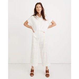Madewell Huston Pull-On Crop Linen Pants Rainbow